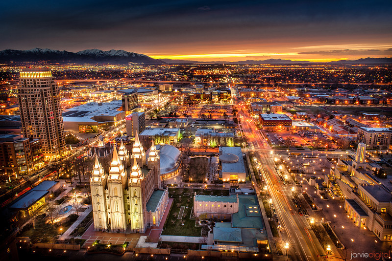 Salt Lake Temple Horizontal (From Above)