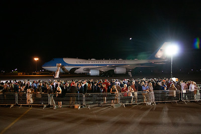 President Trump and the First Lady depart on Air Force One at BNA after the 2nd Presidential Debate 10-22-2020