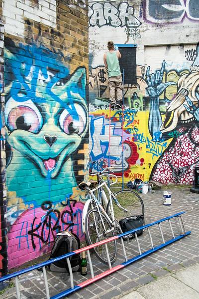 Artist at work, Hackney Wick, E9, London, United Kingdom