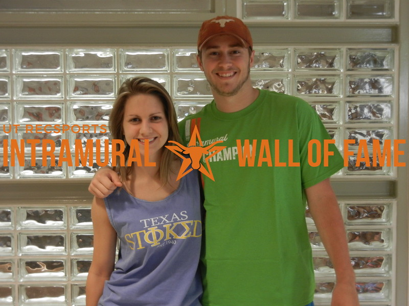 SPRING RACQUETBALL Men's A Doubles Champion Megan Street and Alexander Howard