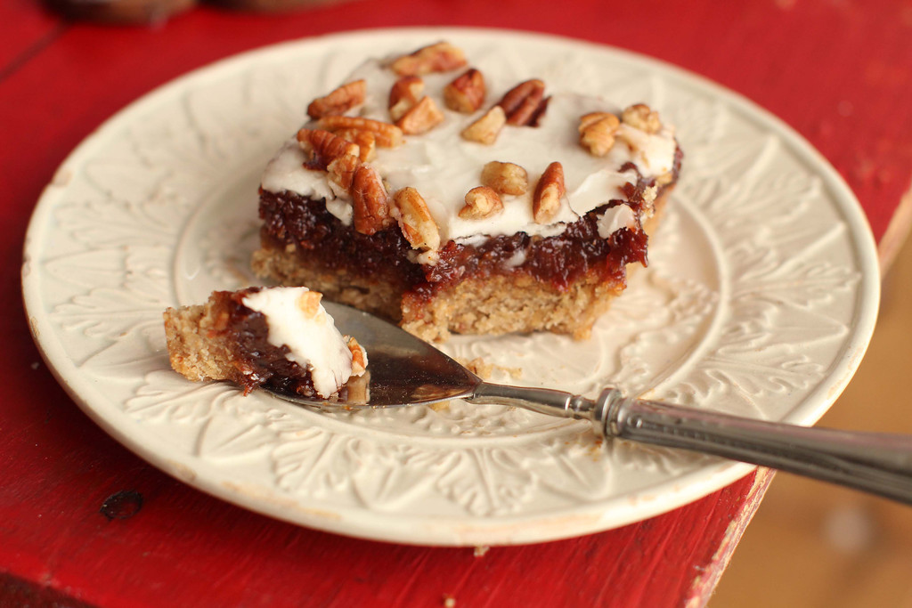 ". These cookies are from a recipe by Alison Ladman. <a href=""http://www.dailybulletin.com/lifestyle/20151125/recipe-bourbon-cherry-bars\"">Get the recipe for bourbon cherry bars</a>. (AP Photo/Matthew Mead)"