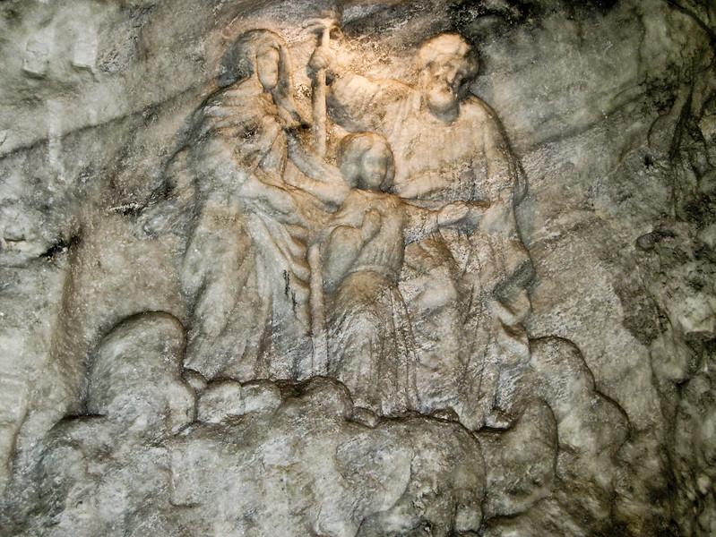 Carving In Salt Mine
