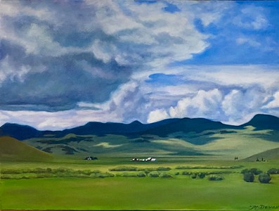 """""""Calm Before The Storm"""" (oil on canvas) by Mitra Devon"""