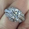 1.95ct Old European Cut Diamond Art Deco Ring, GIA L SI1 3
