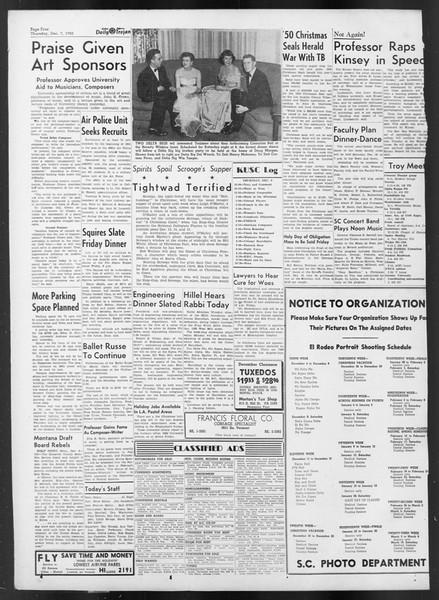 Daily Trojan, Vol. 42, No. 56, December 07, 1950