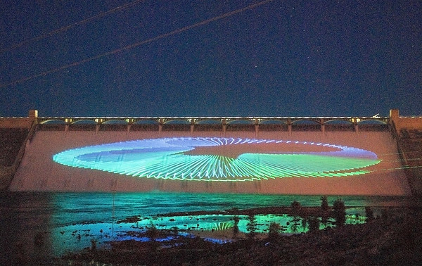 Grand Coulee Dam Laser Night Show