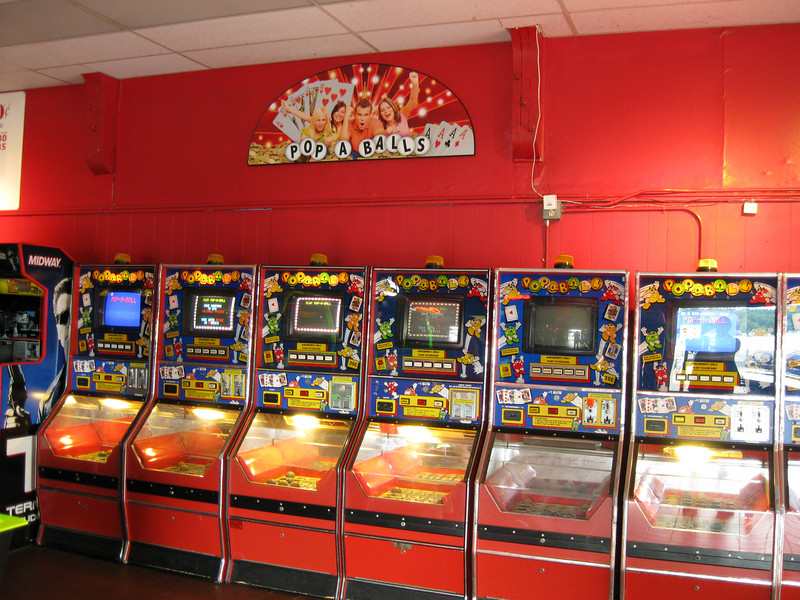 New Pop A Balls sign at the Lake Arcade.