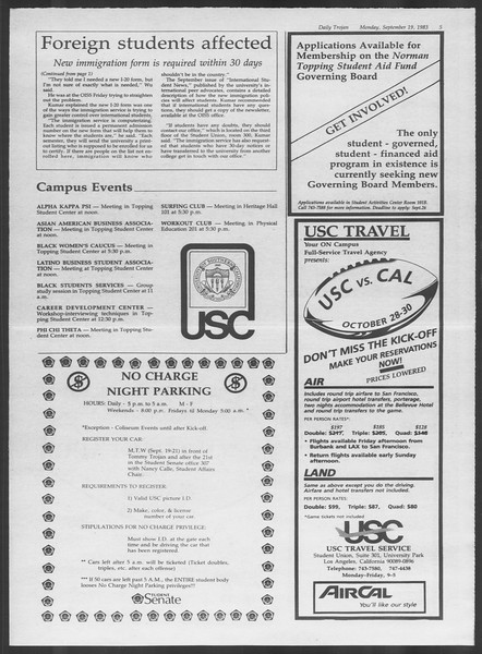 Daily Trojan, Vol. 94, No. 10, September 19, 1983