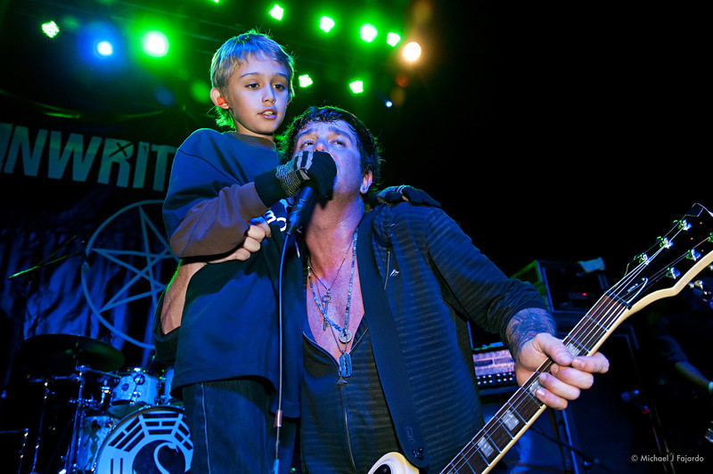 Scott Russo with son Trey Unwritten Law Summit Music Hall Denver, CO April 20, 2011