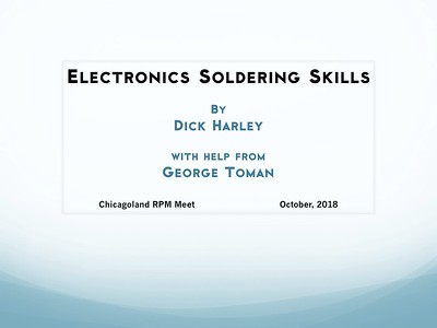 Chicagoland RPM 2018 Soldering Clinic