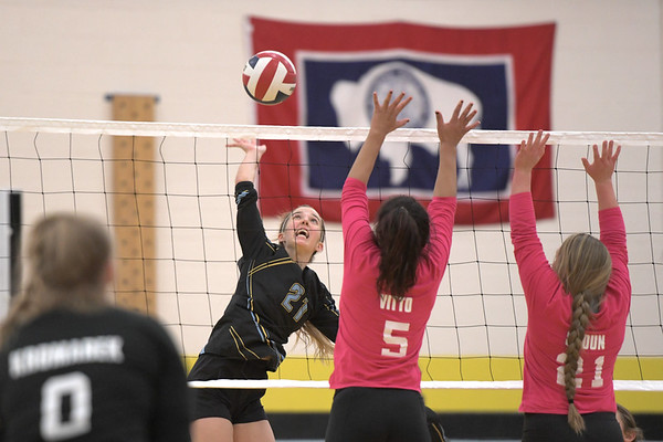 Arvada-Clearmont Volleyball vs. Hulett (10-25-2019)