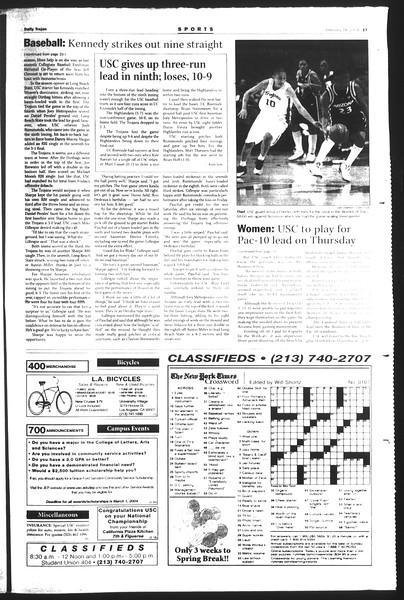 Daily Trojan, Vol. 151, No. 23, February 18, 2004