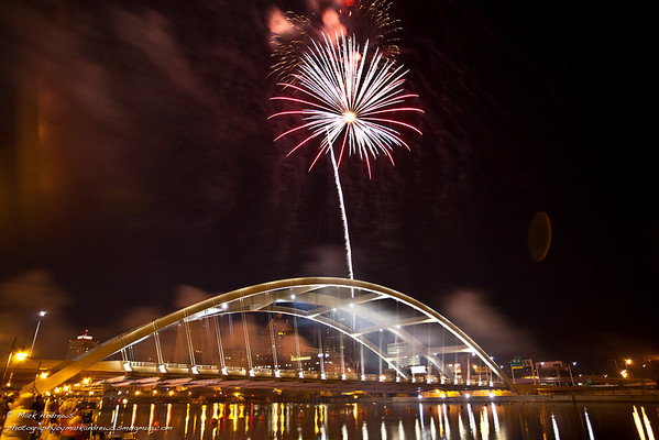 Rochester Ny Bridge, City, Fireworks