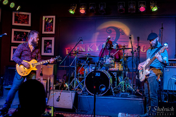 Brandon Miller Band with Ralph Forrest, drums, Dylan Reiter, bass  at Funky Biscuit 5.21.19 jskolnickphotography