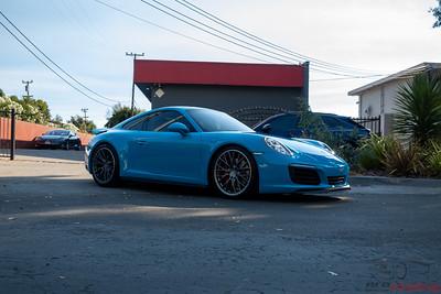 Porsche 911 Carrera 4S - Miami Blue - Full Wrap and Coating