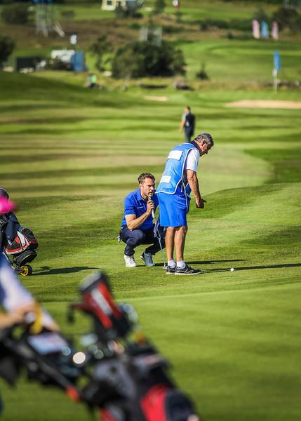 Peter Salmon, GJÓ, Tómas Peter Broome Salmon. Íslandsmót í golfi 2019 - Grafarholt 2. keppnisdagur Mynd: seth@golf.is