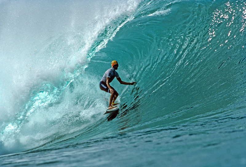 Surfing Pro Surfer - Barton Lynch N. Shore, Oahu, Hi