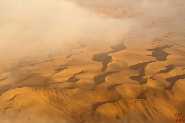 Flying over Sossusvlei sand dunes, Namibia photo 8