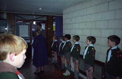 Cub Honour Guard