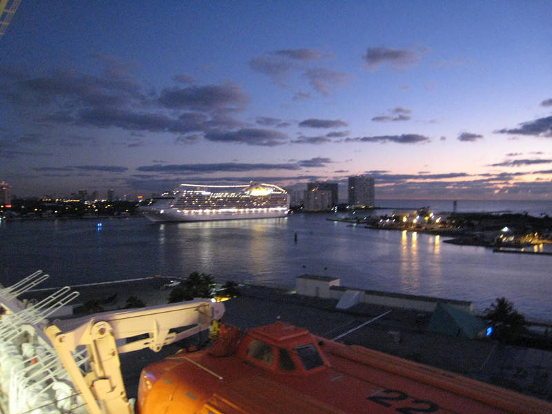 Another ship arriving in Fort Lauderdale on the final day - we were 1 of 7 ships in port that day!