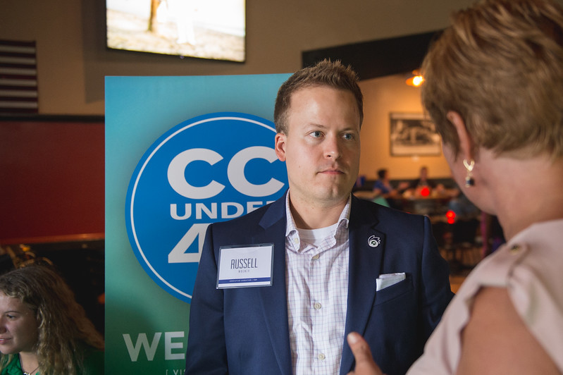 Director of Engagement for Texas A&M University-Corpus Christi Russell Wagner at the Corpus Christi Under 40 kick off event.