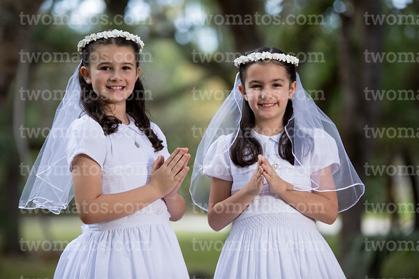 Anabella and Madeline's Communion