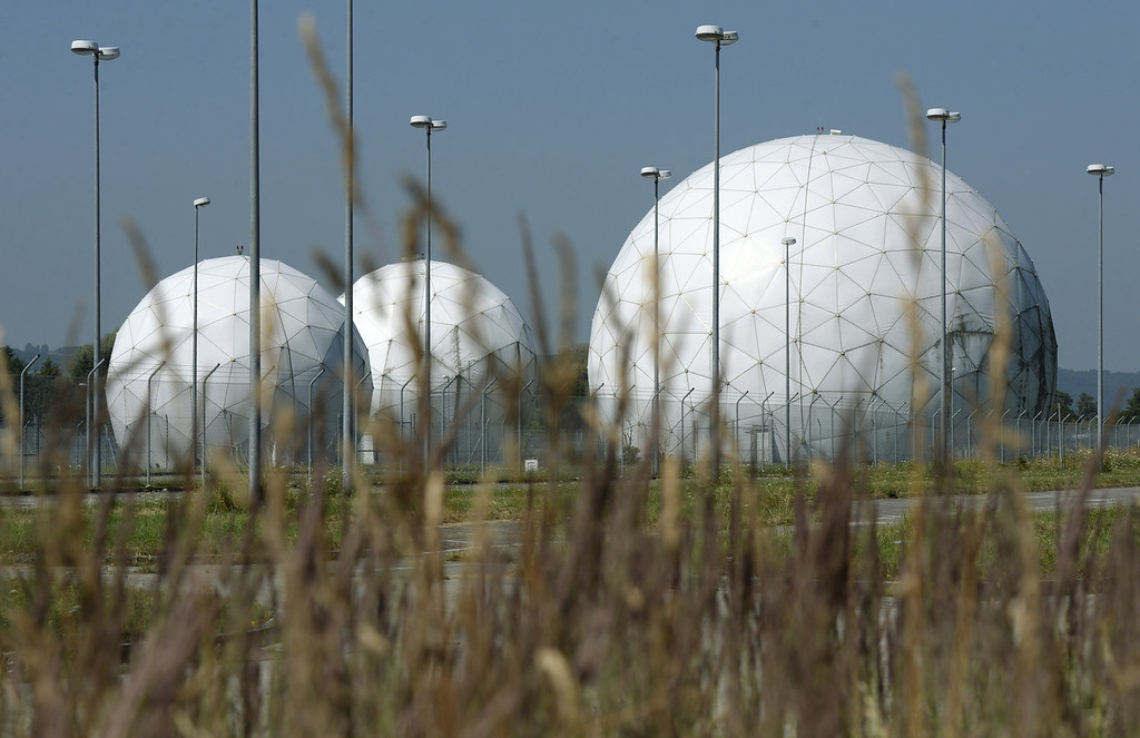 . Radomes are seen on the former monitoring base of the U.S. intelligence organization National Security Agency (NSA) in Bad Aibling, near Rosenheim, southern Germany, on July 16, 2013. The restructuring of the American intelligence community after September 11, 2001 caused the closure of the station in Bad Aibling in 2004.   CHRISTOF STACHE/AFP/Getty Images