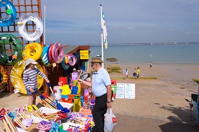 Beach shop in Colwell Bay, Isle of Wight, United Kingdom