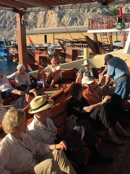 Aboard a dhow on the Musandam Peninsula in Oman - Bridget St. Clair