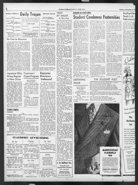 Daily Trojan, Vol. 32, No. 53, December 02, 1940