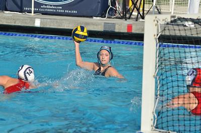 CIF SS Girls Water Polo D2 Finals 2012 - Santiago / Corona High School vs Mater Dei 2/25/12. Final score 9 to 8. SCHS vs MDHS. Photos by Allen Lorentzen.