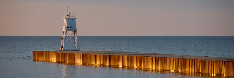 Grand Marais Pier Light, Lake Superior