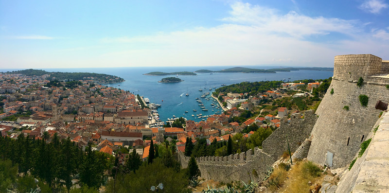 Hvar Island is located a 2 hour ferry ride from Split.  The main town on the island is also called Hvar and is known for its glitz and glamour but also boasts an impressive fortress and a beautiful old town.