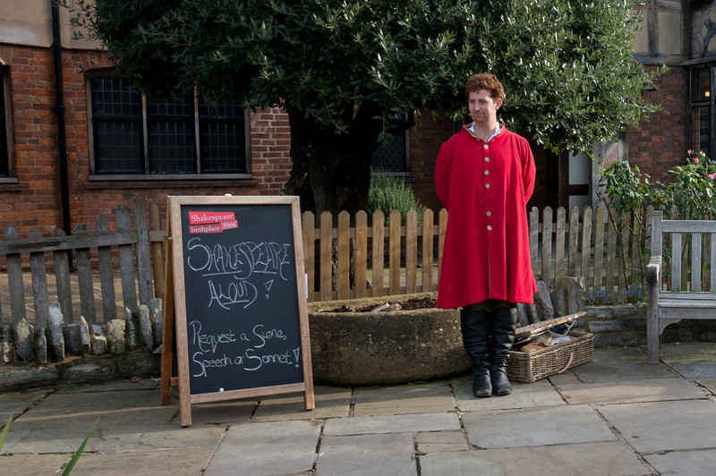 Shakespeare's birthplace, actor who recites any Shakespeare you request