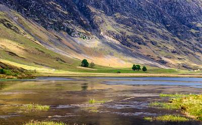Loch Achtriochtan in Glen Coe