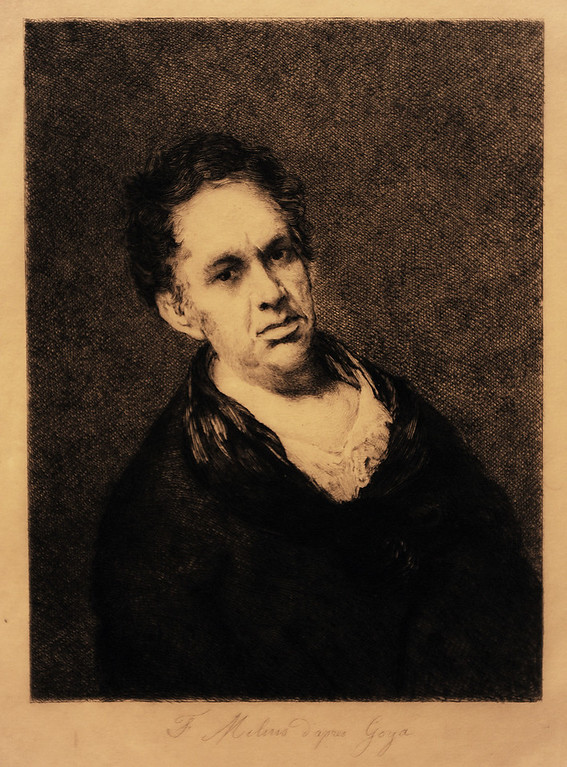. Felix Augustin Milius (French, 1843-1894 ) After Self-Portrait by Goya (painted 1815), c. 1877 Etching and aquatint The Norton Simon Foundation.