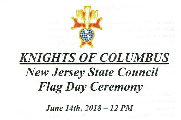 K of C NJ State Council Flag Day Ceremony-2018