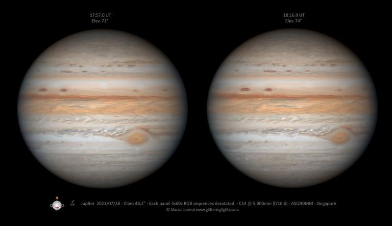Jupiter on July 28, 2021