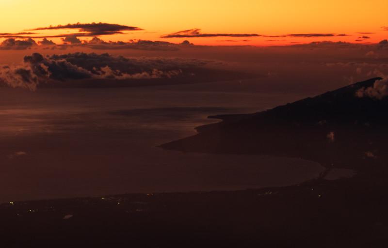 Sunset over Maalaea Bay Maui