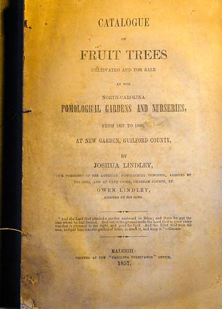 Joshua Lindley - 1857 Catalog