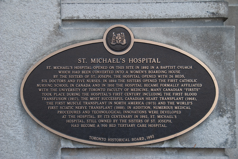 """<a href=""""http://www.stmichaelshospital.com/about/history.php"""" target=""""_blank"""">St Michael's Hospital</a>"""