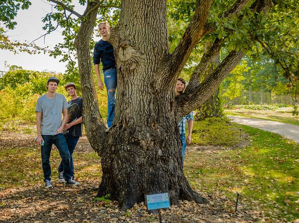Holden Arboretum with Burnett boys
