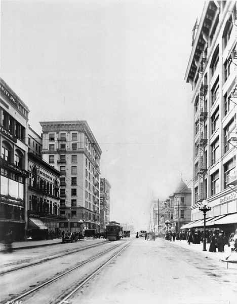 View of Broadway, looking south from Seventh Street, ca.1908