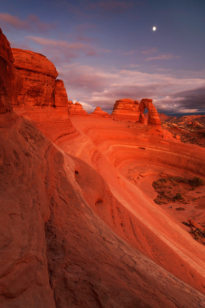Moonrise Over Delicate Arch and Bowl