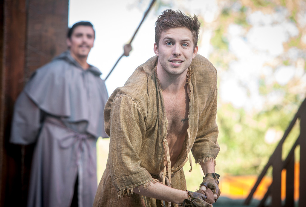 . Corey Mach portrays Quasimodo in a scene from �The Hunchback of Notre Dame,� presented by Great Lakes Theater in Cleveland through Nov. 4. For more information, visit www.greatlakestheater.org. (DKM Photography, courtesy Idaho Shakespeare Festival)