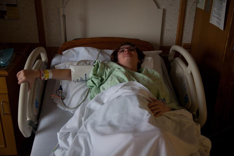 Jill prepares to deliver Henry Walter Grabiec at Sarah Bush Lincoln Hospital in Mattoon, Illinois on November 14,  2011. (Jay Grabiec)
