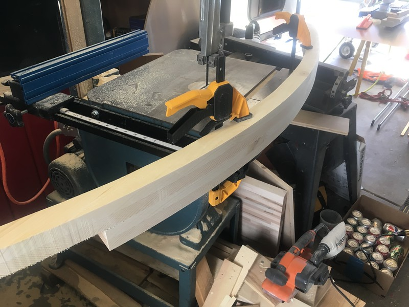 "Sanding the 2 hatch ""beams"" together for symmetry"