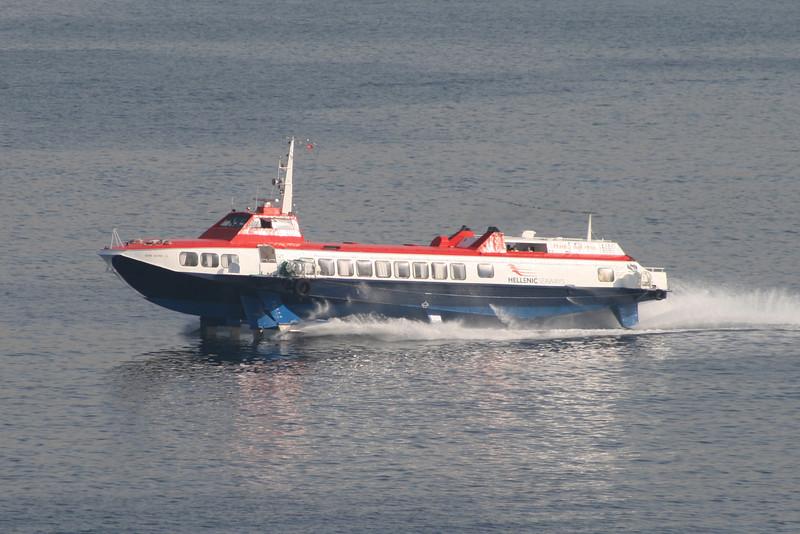 2011 - Hydrofoil FLYING DOLPHIN XIX on route from Piraeus to Aegina.