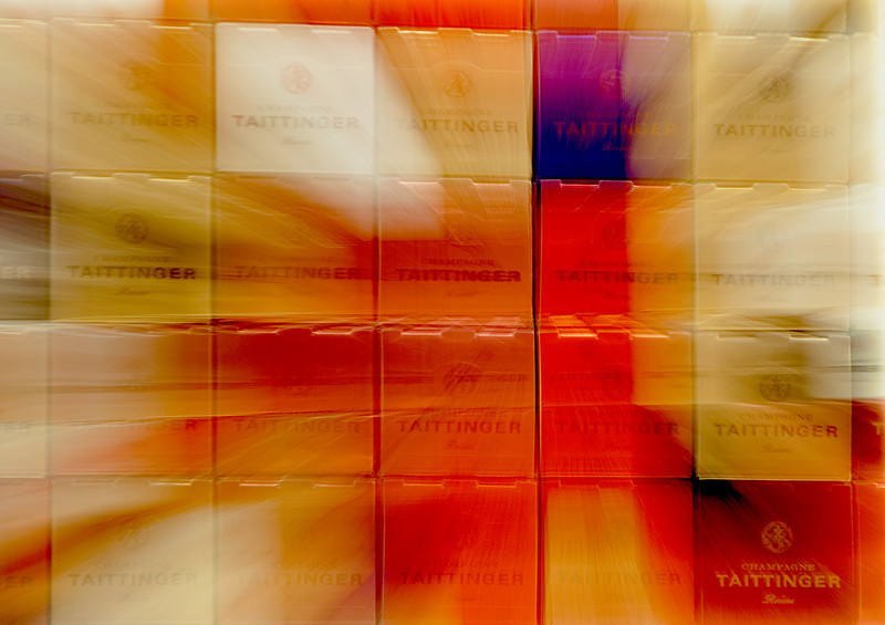Tattinger champagne box abstract