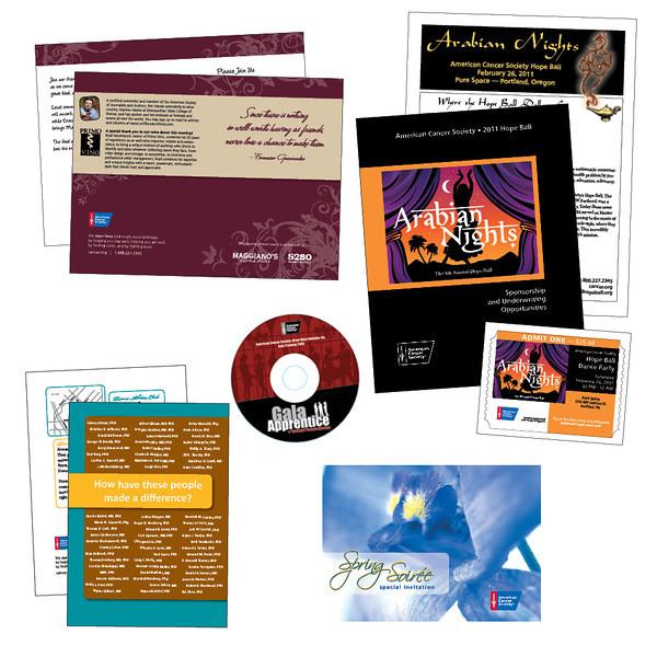 American Cancer Society Gala materials